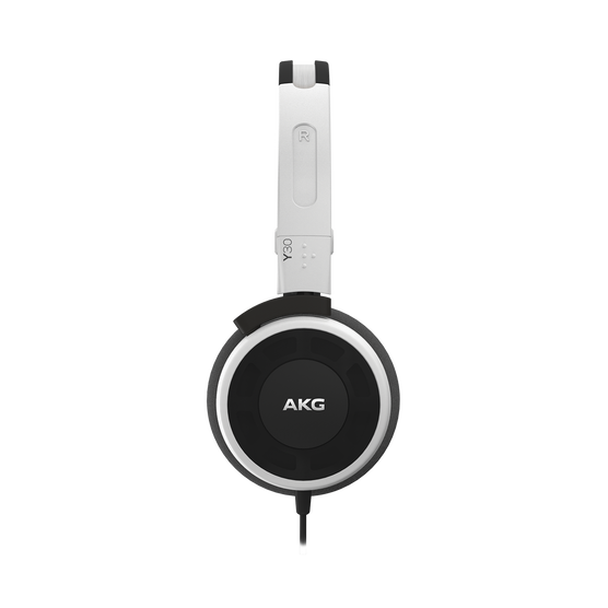 Y 30 - White - Stylish, uncomplicated, foldable headphones with 1 button universal remote/mic - Detailshot 1