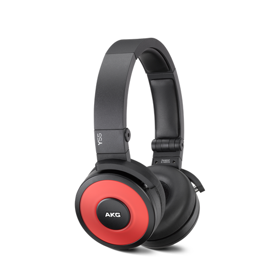 Y55 - Red - High-performance DJ headphones with in-line microphone and remote - Hero